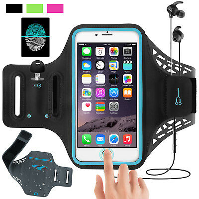 Armband Case Sports Gym Running Jogging Exercise Arm Band Phone Holder Key Bag