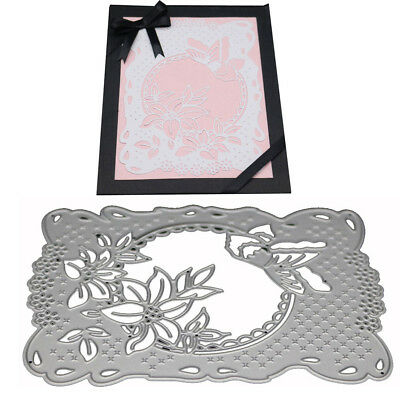 Flower Frame Cutting Dies Stencil DIY Scrapbooking Photo Album Card Embossing