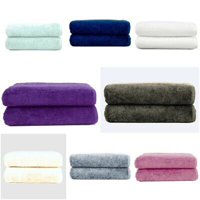 2 x  Super Jumbo Bath Sheets Egyptian Combed Towels Extra Large Size 95 x 210 cm