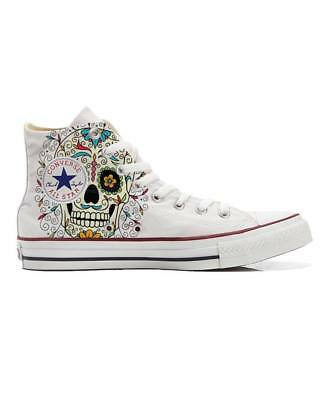 d071cfc461f5 CONVERSE ALL STAR Mexican Skull Love Hope Call It Magic Shoes Draw ...