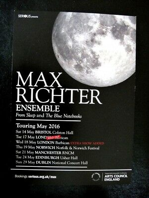 Max Richter Ensemble - Uk Tour 2016 - From Sleep And The Blue Notebooks