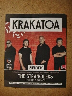 STRANGLERS NEW FLYER - (small size) KRAKATOA CLUB recent FRENCH tour Dec.2, 2017