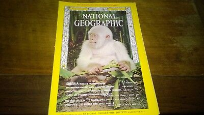 National Geographic Magazine March 1967 - National Gallery, White Gorilla