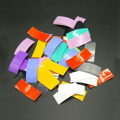 100Pcs 18650 Insulated Battery Sleeve PVC Heat Shrink Tubing Wraps mix color US