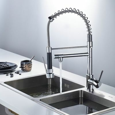 Pull Down Sprayer Kitchen Faucet Sink Mixer Tap Double Water Spout
