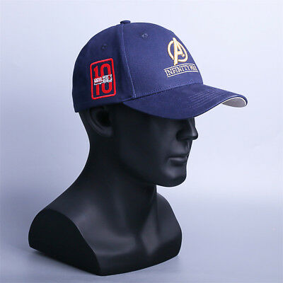 Inspired Infinity War Crew Hat Equip Embroidered Gauntlet Cap Marvel Avengers