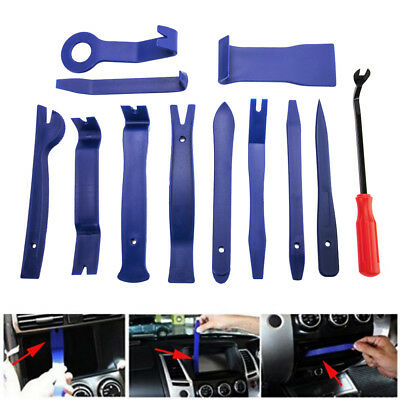 12pcs Car Audio Stereo Radio Door Dash Panel Trim Clip Plastic Removal Pry Tools