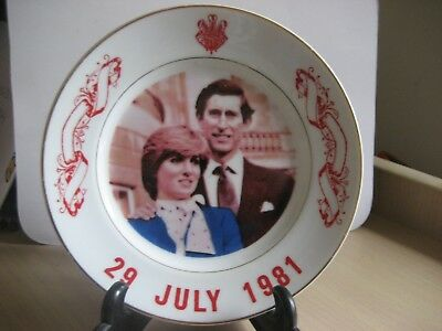 Charles And Dianna Commemorative Plate 1981