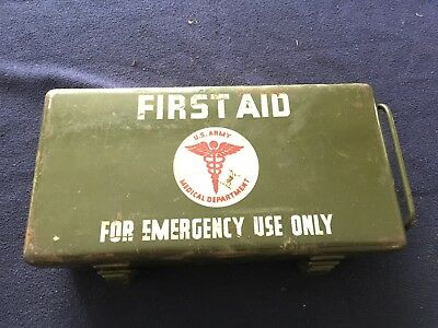 Original Wwii First Aid Kit Willys Mb Ford Gpw Dodge Wc Cckw Dukw Wla