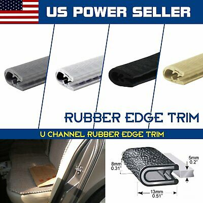 Rubber Seal Edge Trim Lock Automotive Door Edge Guard Strip U Channel 4 Colors