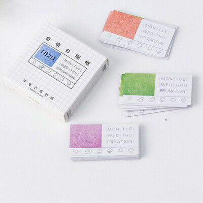 45Pcs Colorful Filling The Date Yourself Paper Stationery Stickers Scrapbooking
