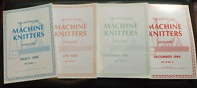 "4 Of ""the Aust Machine Knitters Magazine"" 1989  Exc Cond I Will Post"