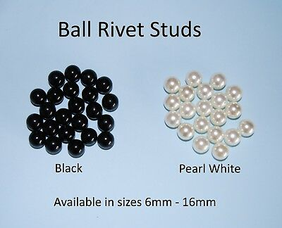Ball Rivet Studs for Metal craft, Leather work, Clothing Jewellery Findings