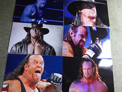 WWE 6 Fotos vom The Undertaker ohne Autogramm