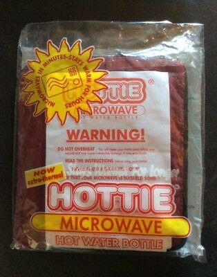 Hotties Quilted Burgundy Microwave Hot Water Bottle Heat Pad Hand Body Warmer