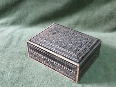 antique anglo indian mosaic box small