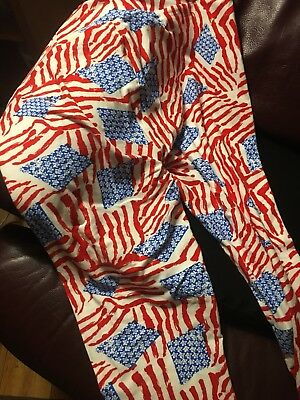Lularoe TC Leggings PATRIOTIC OLD GLORY party picnic time dinner summer wear