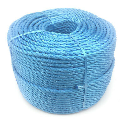 10mm Blue Polypropylene Rope x 20 Metres, Poly Rope Coils, Cheap Nylon Rope