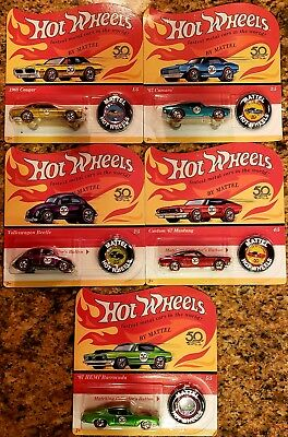 2018 Hot Wheels set of 5  Redline 50th Anniversary Complete Set