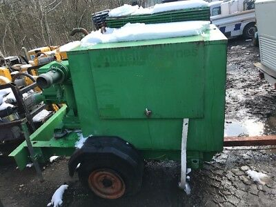 Selwood 100C Silent Diesel Water Pump On Wheels. Year 2002