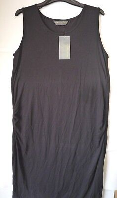 Mothercare Blooming Marvellous Maternity Black Sleeveless Summer Dress Size 12