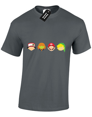 Legends Of Gaming Mens T-Shirt Nintendo Gamer Zelda Gift Mario Pokemon (Col)