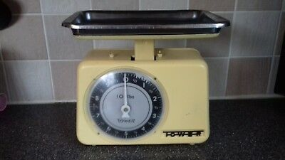 Vintage Kitchen Scales Tower Brand Yellow