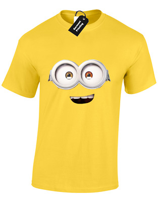 Minion Face Bob Mens T-Shirt Funny Gift Present For Fan Idea Cute Top (Colour)