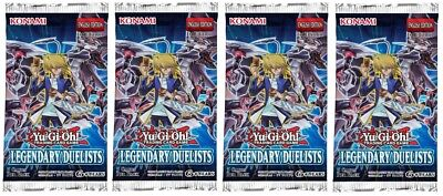 YuGiOh! Legendary Duelists 1st Edition New And Sealed Booster Packs x4
