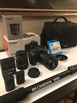 Canon 80d Digital SLR.. 3 YEAR WARRANTY!!! Everything Absolute Perfect Condition