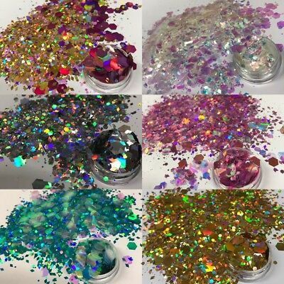 Mixed Hair Glitter Festival Chunky New Unicorn Mermaid Holo Sparkly Face Body