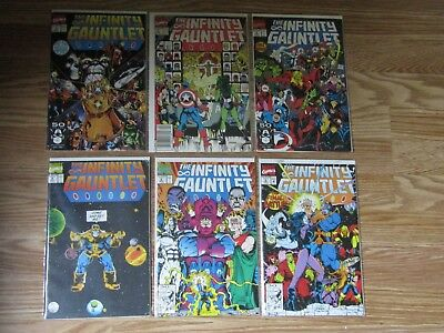 Infinity Gauntlet 1 2 3 4 5 6 complete set lot Infinity War Movie Thanos