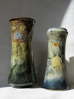 TWO large Royal Doulton Art Nouveau vases