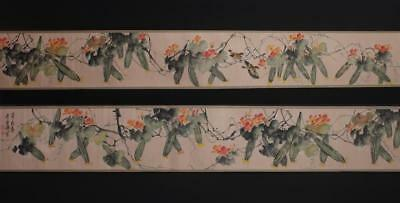 Fine Chinese Hand-painting Painting Scroll Wang Xuetao Marked-loofah