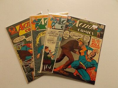 Silver Age Action Comics Lot #376, 377, 379, 397