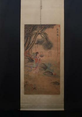 Chinese Hand-painting Painting Scroll Yuzhiding Marked-Celerate the birthday