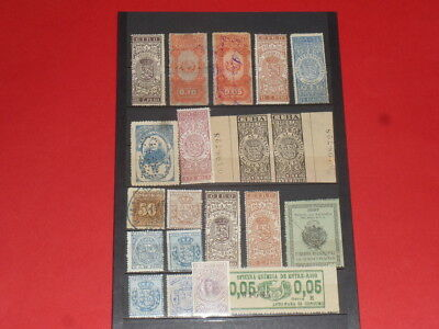 South America Südamerika 20 Revenue Stamps Stempelmarken