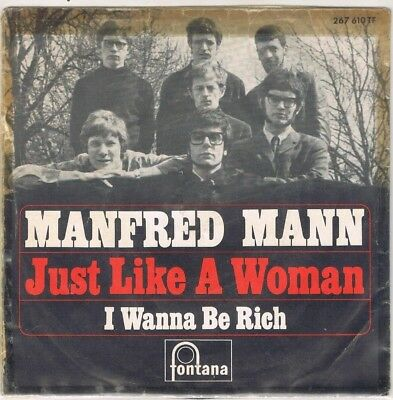 """7"""" - MANFRED MANN - JUST LIKE A WOMAN - german PS"""
