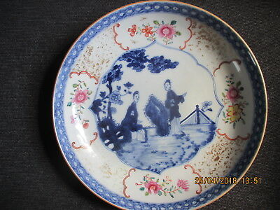 rare 18th c chinese export porcelain dish plate qianlong period 1760 c