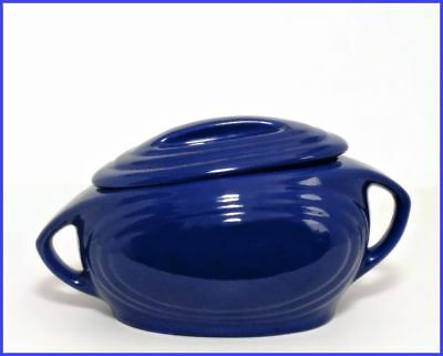 RED WING <> Gypsy Trail <> Rare Streamlined Covered Casserole <> Cobalt Blue
