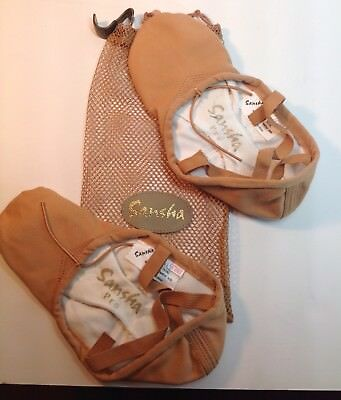 Sansha Canvas Ballet / Dance Shoes Size 9 Wide - New With Bag