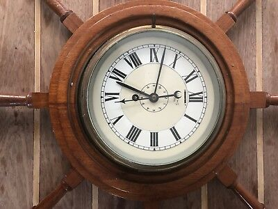 Vintage  Ship Clock Smiths ASTRAL  Brass Clock  Maritime Marine  Clock With  Key