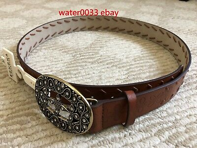 Sonoma Women's Brown Faux Leather Belt New with $30 tag From Kohls Size S M L XL