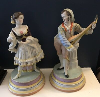 Amazing 19th Century Jean Gille Vion and Baury Bisque Paris Figurines