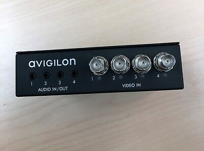 Avigilon Encoder - Network Analog Video Encoder w/ 4 video in and 4 audio in/out