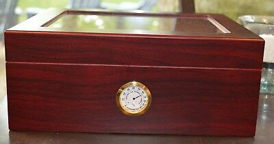 Scorch Torch 25-50 Cigar Humidor Humidifier w/ Hygrometer w 3 Cuban Small Cigars
