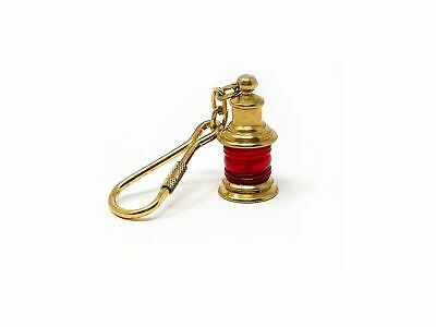 Solid Brass Lamp Keychain Five Oceans FO-2217