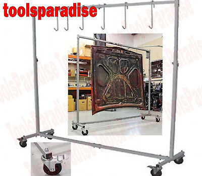 AUTO BODY SHOP Painting Rack HOOK HANGER STAND Panel Hood Door HOLDER FRAME  sc 1 st  PicClick & AUTO BODY Paint Booth Stand Painting Rack Door Hood Fender Panel ...