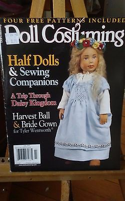 Vtg 2004 July Doll Costuming half dolls craft magazine patterns complete 82 pg