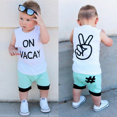 9c2c3f307951 PULLA BULLA BABY Boy 2-Piece Set Tank Top and Shorts Outfit -  11.00 ...